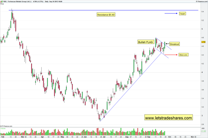 Fortescue metals (FMG) Daily Price Chart